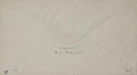 Reverse of A.S. Robinson, Hartford Envelope: Excelsior