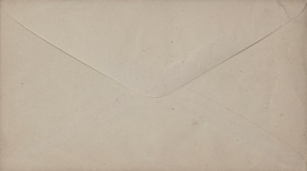 "Reverse of ""All we want is to be let alone"" Envelope"