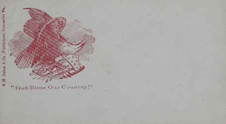 S. W. Zahm & Co., Publishers: God Bless Our Country Envelope.