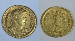 BYZANTINE GOLD COINS OF EMPEROR VALENS UNEARTHED IN EGYPT