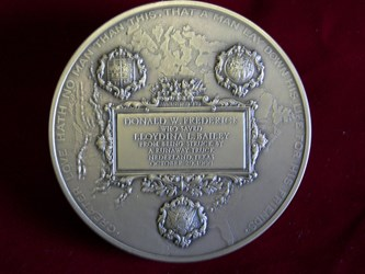 FREE AT LAST: CARNEGIE HERO MEDAL EXTRACTED FROM LUCITE BLOCK