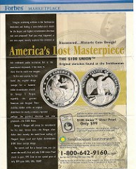 WALL STREET JOURNAL ARTICLE HIGHLIGHTS MORGAN'S $100 GOLD COIN SKETCH