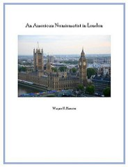 MANUSCRIPT: AN AMERICAN NUMISMATIST IN LONDON