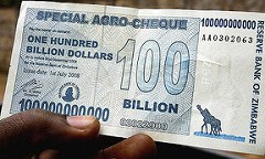 ZIMBABWE RUNS OUT OF PAPER TO PRINT MONEY