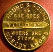 NEWSPAPER ARTICLE HIGHLIGHTS 1952 SCOVILLE SPINNER TOKEN