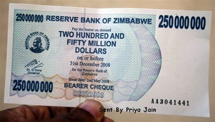 PHOTOS ILLUSTRATE ZIMBABWE'S INFLATION