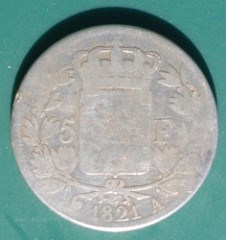 PHOTOS: J.L POLHEMUS COUNTERSTAMP ON FRENCH COIN