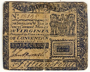 ARTICLE DISCUSSES WORN, TORN & SOILED U.S. COLONIAL PAPER MONEY
