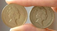 COUNTERFEIT ONE POUND COINS APPEARING IN SHEFFIELD, ENGLAND