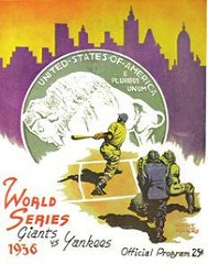 BUFFALO NICKEL FEATURED ON 1936 WORLD SERIES PROGRAM COVER