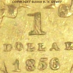 RESPONSES TO R.V. DEWEY'S 1856 GOLD DOLLAR IMAGE