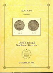 FIRST FANNING NUMISMATIC LITERATURE AUCTION SALE CLOSES OCTOBER 28