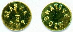 ALASKA NATIVE GOLD TOKENS NOW STRUCK WITH COLLAR