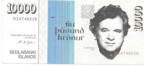ARTIST CREATED ICELANDIC NOTE THAT DOESN'T EXIST