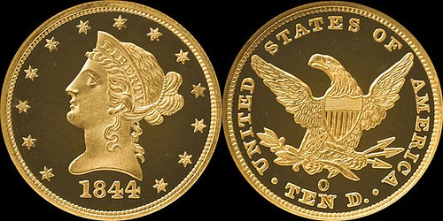 UNIQUE PROOF 1844-O EAGLE TO BE EXHIBITED AT THE NEW ORLEANS MINT