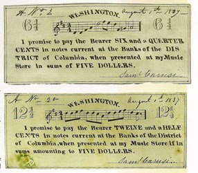 QUIZ ANSWER: NAMING THOSE TUNES ON THE DISTRICT OF COLUMBIA SCRIP NOTES