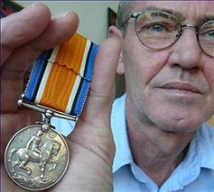 RECOVERY OF STOLEN MEDAL REUNITES MAN WITH HIS ANCESTRY