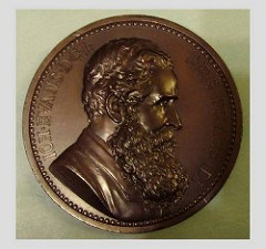 MUSEUM ACQUIRES MEDAL OF NUMISMATIST SIR JOHN EVANS