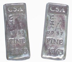 MORE ON THE CSA SILVER INGOTS
