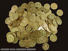 HOARD OF 7TH CENTURY GOLD COINS UNEARTHED IN ISRAEL