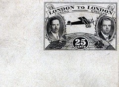PRINTER'S PROOF OF RARE 1927 LONDON TO LONDON STAMP FOUND