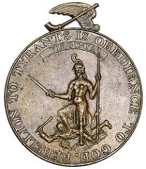HAPPY WHILE UNITED INDIAN PEACE MEDAL PURCHASED BY COLONIAL WILLIAMSBURG