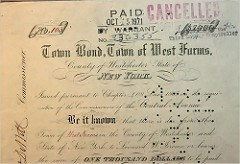 1868 MUNICIPAL BOND COMING DUE AFTER 135 YEARS