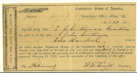 NEW BOOK: CONFEDERATE DEPOSITORY RECEIPTS AND EXCHANGE CERTIFICATES