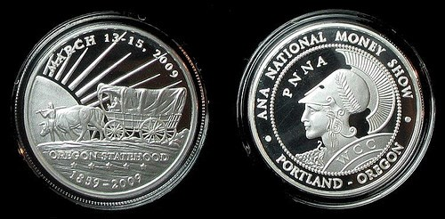 2009 PORTLAND NATIONAL MONEY SHOW MEDALS OFFERED