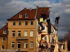 COLOGNE, GERMANY TOWN ARCHIVE BUILDING COLLAPSES