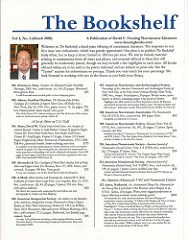 MARCH 2009 ISSUE OF THE BOOKSHELF AVAILABLE