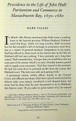 NEW OFFPRINT: PROVIDENCE IN THE LIFE OF JOHN HULL BY MARK VALERI