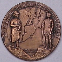 1931 BAYONNE BRIDGE DEDICATION MEDAL