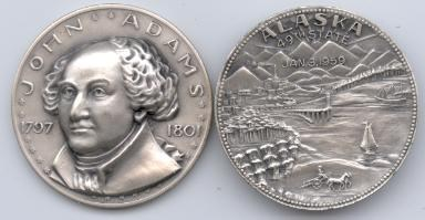 SO WHY IS PRESIDENT JOHN ADAMS DEPICTED ON AN ALASKA STATEHOOD MEDAL?