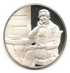 QUERY: NAME THE BIBLIOPHILE ON THIS FRANKLIN MINT MEDAL