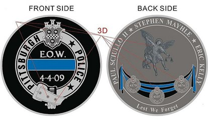 PITTSBURGH POLICE CHALLENGE COINS RAISE FUNDS FOR FALLEN OFFICERS