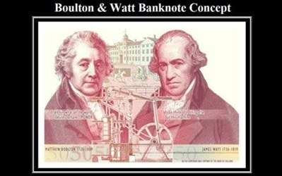 BOULTON AND WATT CHOSEN FOR NEW BANK OF ENGLAND �50 NOTE
