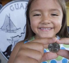 RESIDENTS LINE UP FOR GUAM QUARTERS