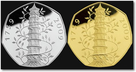 ROYAL MINT ISSUES 2009 KEW GARDENS 50 PENCE COIN