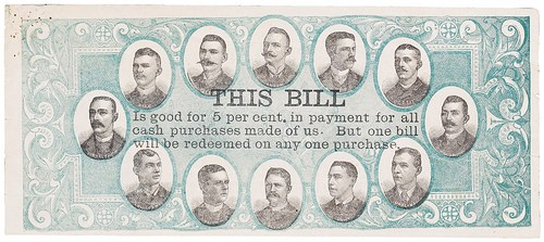 BASEBALL CURRENCY ADVERTISING NOTES