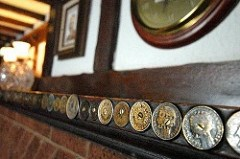 PUB COINS INSCRIBED BY WWII SOLDIERS