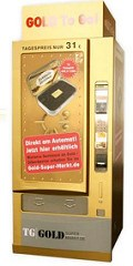 GERMAN VENDING MACHINES TO DISPENSE GOLD