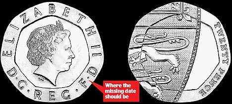 THE CRAZE FOR THE ROYAL MINT'S DATELESS 2009 TWENTY PENCE