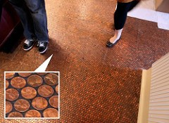 THE STANDARD GRILL'S FLOOR OF PENNIES