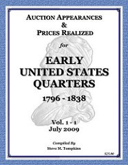 NEW BOOK: AUCTION APPEARANCES & PRICES REALIZED FOR EARLY U.S QUARTERS