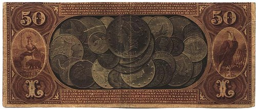 COINS PICTURED ON BANKNOTES