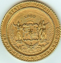 MORE ON THE 1959 HAWAII GOLD STATEHOOD MEDAL