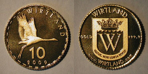NEW SILVER CRANE COIN FROR WIRTLANDS VIRTUAL NATION