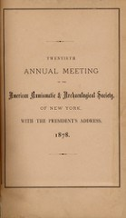 AMERICAN NUMISMATIC SOCIETY PUBLICATION HISTORY