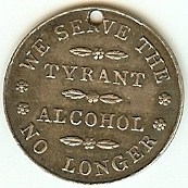 QUERY: INFORMATION ON TEMPERANCE SOCIETY MEDALS AND TOKENS SOUGHT